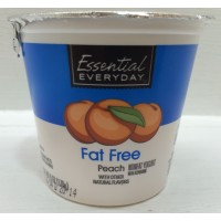 Essential Everyday Fat Free Peach Yogurt 6 OZ