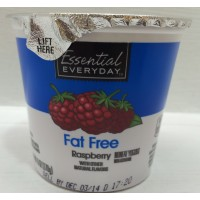 Essential Everyday Fat Free Raspberry Yogurt 6 OZ