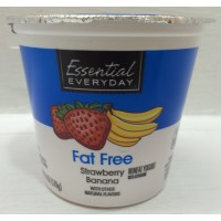 Essential Everyday Fat Free Yogurt - Strawberry Banana - 6 OZ