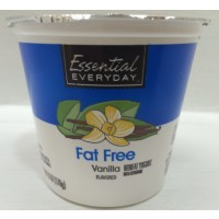 Essential Everyday Non Fat Vanilla Yogurt 6 OZ