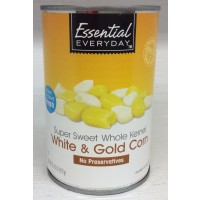 Essential Everyday Super Sweet Whole Kernel White And Gold Corn - 15.25 OZ