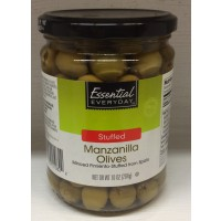 Essential Everyday (Green) Manzanilla Olives Stuffed with Minced Pimento 10 OZ