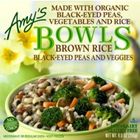 Amy's Gluten-Free Dairy-Free Brown Rice Black-Eyed Peas And Veggies Bowl - 9.0 OZ