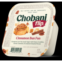 Chobani Greek Flip Low-Fat Yogurt Cinnamon Bun Fun 5.3oz
