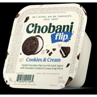 Chobani Greek Flip Low-Fat Yogurt Cookies & Cream 5.3oz