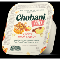 Chobani Greek Flip Low-Fat Yogurt Perfect Peach Cobbler 5.3oz