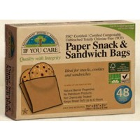 If You Care Compostable Paper Snack & Sandwich Bags - 48 CT