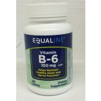 Equaline Vitamin B6 100mg - 100 CT