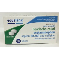 Equaline Acetaminophen Aspirin & Caffeine Tablets 100 CT