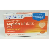 Equaline Regular Strength Aspirin Tablets 325mg 125 CT