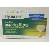 Equaline Low Dose Aspirin Tablets 81mg 120 CT
