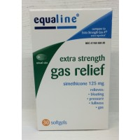 Equaline Extra Strength Gas Relief 125mg - 30 CT