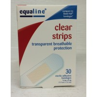 Equaline Clear Strips (Bandages) - 30 Ct