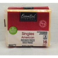 Essential Everyday Yellow American Cheese Singles 16CT 12 OZ