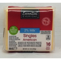 Essential Everyday 2% Yellow American Cheese 16CT / 10.7 OZ