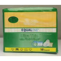 Equaline Ultra Thin Pads with Flexi Wings - Regular 18 CT