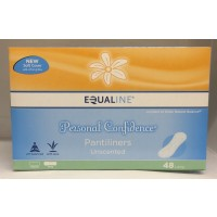 Equaline Personal Confidence Pantiliners - Long Unscented 48 CT