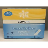 Equaline Personal Confidence Pantiliners - Regular Unscented 64 CT