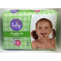 Baby Basics Diapers - 6 (35+ LB) 23ct