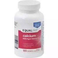 Equaline Calcium 600mg & Vitamin D3 120ct