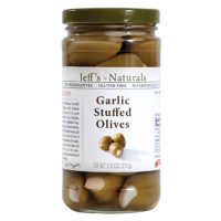 Jeff's Naturals (Green) Garlic Stuffed Olives 7.5 OZ