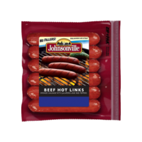 Johnsonville Beef Hot Links Smoked Sausage 12 OZ