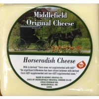 Middlefield Original Cheese - Horseradish Cheese - Brick 8 OZ
