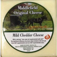Middlefield Original Cheese - Mild Cheddar Cheese (White) - Brick 8 OZ