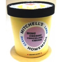 Mitchell's Homemade Bing Cherry Chocolate Chunk Ice Cream 1 Pt