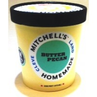 Mitchell's Homemade Butter Pecan Ice Cream 1 Pt