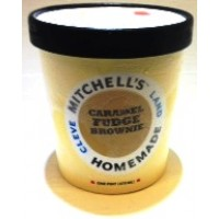 Mitchell's Homemade Caramel Fudge Brownie Ice Cream 1 Pt