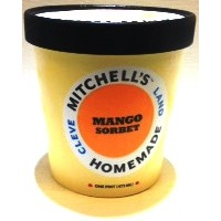 Mitchell's Homemade Mango Sorbet Ice Cream 1 Pt
