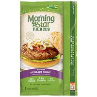 MorningStar Farms Grillers Prime Veggie Burgers - 4 CT / 10.0 OZ
