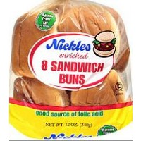 Nickles Sandwich/Hamburger Buns - 8 CT / 12 OZ