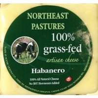 Northeast Pastures 100% Grass Fed Artisan Cheese - Habanero - Brick 8 OZ