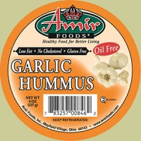 Amir Foods Garlic Hummus Dip Oil Free 8 OZ