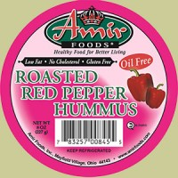 Amir Foods Red Pepper Hummus Dip Oil Free 8 OZ