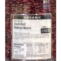 Organic Dark Red Kidney Beans - approx 8 OZ