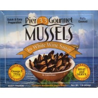 Pier 33 Frozen Mussels in White Wine Sauce 1 LB