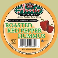 Amir Foods Roasted Red Pepper Hummus Dip 16 OZ
