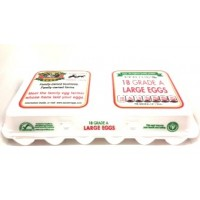 Fresh Eggs - Sauders Grade A Large White 18PK.