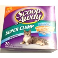 Scoop Away Scented Scoopable Cat Litter - Super Clump 20 LB