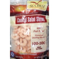Sea Best Cooked Salad Shrimp (100-200 CT) - 1 LB