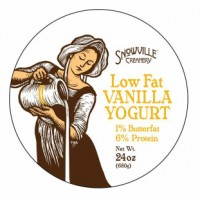 Snowville 1% Low Fat Vanilla Yogurt - 24.0 OZ