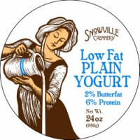 Snowville 2% Lowfat Plain Yogurt - 24.0 OZ
