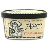 Alden's Organic Strawberry Ice Cream 1.5 Qts