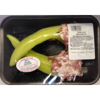 Sausage Stuffed Hot Banana Peppers - 2 CT / Aprx .6 LB