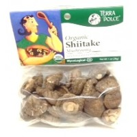 Terra Dolce Dried Organic Shiitake Mushrooms 1 OZ