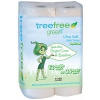 Green2 100% Natural Tree Free Bath Tissue - Double Rolls - 12ct