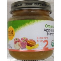 Wild Harvest Organic Baby Food - Stage 2 - Apples & Mangoes 4oz